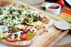 Mexican Veggie Flatbread with Avocado Spread | Bake Your Day