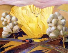 Rafal Malczewski 'Auto na tle pejzażu zimowego' 1930 & 'Kamieniolom' (Malczewski joined the Podhale Arts Society, which promoted the idea of seeking out foundations for Polish art in. Landscape Mode, Abstract Landscape, Landscape Paintings, Landscapes, Graphic Portfolio, Portfolio Design, Holland Windmills, Magic Realism, Art Society
