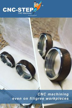 A customers project on a High-Z milling machine @i_und_mei_hoiz. #wedding #rings #millingmachine #cnc #machining Desktop Cnc, Cnc Maschine, Grooms Table, Cnc Milling Machine, Cnc Router, Metal Working, Diy Jewelry, Best Gifts, Rings For Men