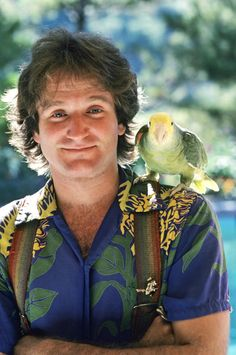 """Robin Williams appears in character as Mork from the hit TV show """"Mork and Mindy,"""" on Sept. 14, 1978. The enormously popular sitcom ran until 1982 and transformed Williams into a star."""