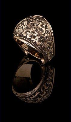 J. Chapa Hernandez |  J. Chapa Hernandez | Western Floral Design Ring GR-616 - LATEST DESIGNS | Bellevue, WA