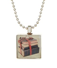Another great find on #zulily! Silvertone Vintage Book Bundle Game Tile Necklace #zulilyfinds