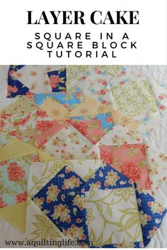 Square in a Square Block Tutorial | A Quilting Life | Bloglovin'