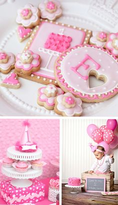 Pretty in pink birthday party idea