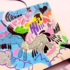 Blog: Tumblr of the Week: Miss Wearer's Rainbow POP Sketchbooks - Doodlers Anonymous