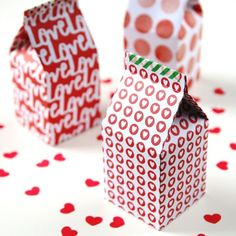 I'm going to show you how to make these really cute Diy Mini Milk Carton Gift Boxes. As I mentioned previously I got a Martha Stewart score board for Christmas and have been busy crafting up a storm of mini boxes ever since.