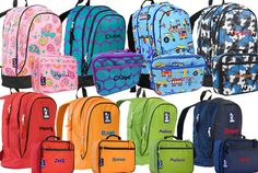 Personalized Wildkin Backpacks And Lunch Bo From Gatortots