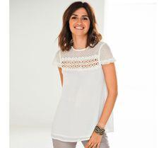 Blúzka s výšivkou Short Sleeve Dresses, Dresses With Sleeves, Jar, Fashion, Moda, La Mode, Gowns With Sleeves, Jars, Fasion