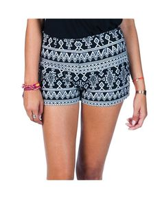 Billabong Stay Outside Shorts. These printed shorts are perfect for a sunny spring afternoon. Paired with a black tank and big floppy hat and your ready to go! available in store and online at pinnaclemalibu.com