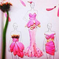 real petal sketches