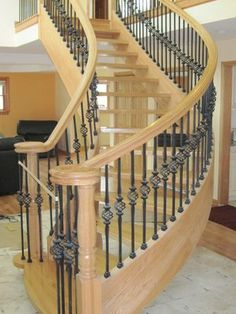 Open Riser Curved Wood And Cast Iron Stair Http://s3 Media2.
