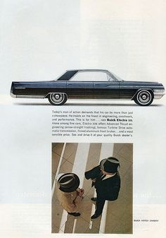 1963 Buick Electra 225 Ad from National Geographic 1963-04