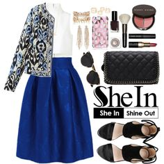 Shein by oshint on Polyvore featuring moda, macgraw, River Island, Charlotte Russe, Zoë Chicco, Kate Spade, Christian Dior, Bobbi Brown Cosmetics, women's clothing and women's fashion