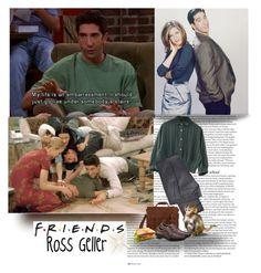 """""""Friends: Ross Geller"""" by priscilla12 ❤ liked on Polyvore featuring ASOS, DKNY, Hush Puppies, women's clothing, women's fashion, women, female, woman, misses and juniors"""