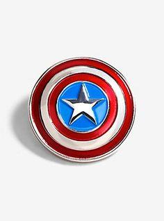 Marvel Avengers Captain America Shield Enamel Pin,