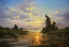 River Yahroma by Russian artist, Stepan Nesterchuk (1978)
