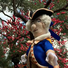Here comes the General! George Washington soft toy available at the Huntington Store.  www.thehuntingtonstore.org