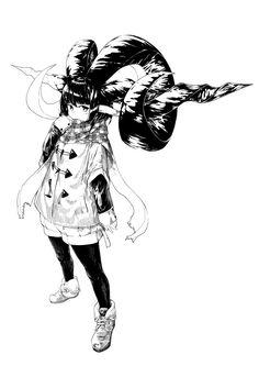 """jaco お絵描き用デバイス作りましたさんのツイート: """"成長期に角に栄養すべて取られちゃった系な角娘… """""""