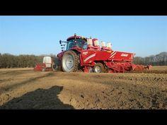 Loonbedrijf Hendrickx aan het aardappelen poten Trekkerweb Grimme