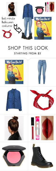 """""""We Can Do It~Last minute Halloween costume"""" by janet2147 ❤ liked on Polyvore featuring moda, ASOS, H&M y Dr. Martens"""