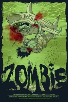 the movie, 'Zombie' (where you first see a shark fighting a zombie)