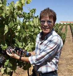 Sir Cliff Richard at his splendid Adega do Cantor vineyard in Algarve, Portugal