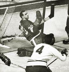 Roger Crozier & Jean Beliveau - 1968 Women's Hockey, Hockey Games, Montreal Canadiens, Nhl, Red Wings Hockey, Goalie Mask, Vancouver Canucks, National Hockey League, Toronto Maple Leafs