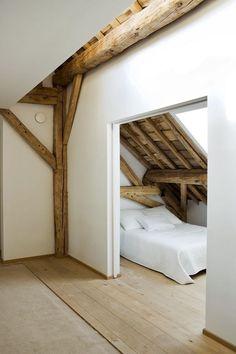 beams, flooring, plaster