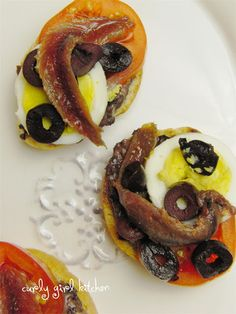 Egg and Tapenade Toasts
