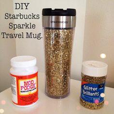 Emma Courtney: DIY Starbucks Sparkle Travel Mug