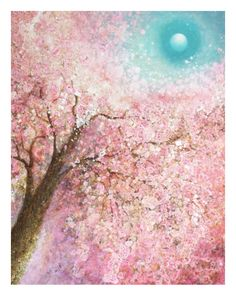 "Izumi Omori is a Japanese artist who love to capture moments in nature, moving with light and wind. ""My paintings are celebration of flowers, of life, and nature,"" she tells VIDA. Pictured is Izumi's work, Blossoms Magic."