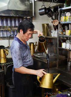 Singapore's dying art of Kopi making. http://www.seriouslytravel.com/singapores-dying-art-kopi-sock-master/
