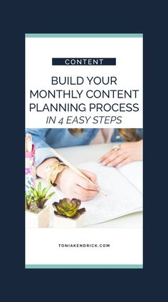 """Wondering """"How do I create a content plan?"""" A content plan for is an important part of every business blog strategy, but it doesn't have to take a long time! This quick process will help you plan content that aligns with your business goals! Create a monthly content plan with this four-step monthly content planning process. Content Words, 90 Day Plan, Digital Strategy, Content Marketing Strategy, Reality Check, Business Goals, Social Media Content, How To Plan, Create"""