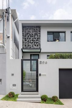 Top minimalist house design architecture home ideas Design Exterior, Facade Design, Architecture Design, Fence Design, Door Design, Home Room Design, Small House Design, Modern House Design, Modern Minimalist House