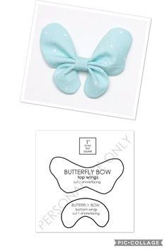 New ideas baby diy ideas crafts Bow Pattern, Butterfly Pattern, Free Pattern, Butterfly Template, Baby Bows, Baby Headbands, Felt Flowers, Fabric Flowers, Fabric Bows