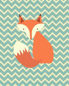 Fox Printable Instant Download Woodland Nursery by dodidoodles
