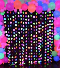 The Photo Backdrop for the Neon Glow Party was so cool! I really enjoyed seeing all the kids (and adults lol) taking pictures with the Photo Props.