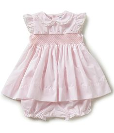 Shop for Friedknit Creations Baby Girls Months Flutter Sleeve Smocked Dress at Dillard's. Visit Dillard's to find clothing, accessories, shoes, cosmetics & more. The Style of Your Life. Girls Smocked Dresses, Baby Girl Dresses, Girl Outfits, Baby Girls, Smocked Dresses For Toddlers, Baby Dress Design, Baby Dress Patterns, Dresses To Wear To A Wedding, Smock Dress