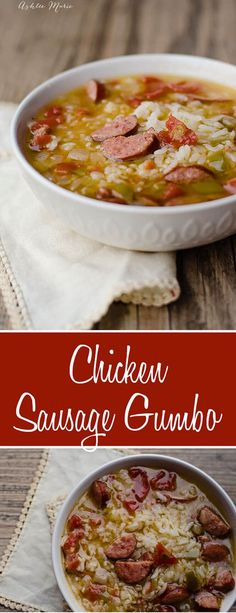 this chicken and sausage gumbo is one of my families favorite dishes. this is a kid friendly personalized version with no okra and some roux, but one that everyone loves
