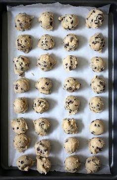 No bake cookie Dough truffles - no eggs needed!