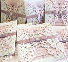DIY laser cut wedding invitations by Elaine Owens. April's Competition Winner.  Laser cut wedding invitations.  Products available from Imagine DIY   #diywedding #diyweddingsupplies #diyweddingideas #lasercut #lasercutinvitations #diyweddingstationery #diyweddinginvitations #weddingcompetition