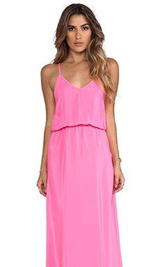Amanda Uprichard Y-Back Maxi Dress in Hibiscus | REVOLVE
