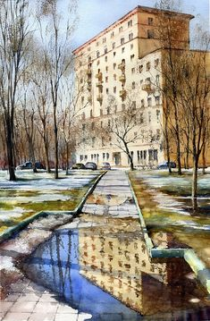 April puddles - Media - Artist Daily