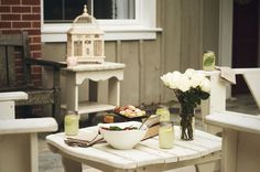Summer Outdoor Setting: Anna Elizabeth Events 2013 Lookbook #tablescape #picnic #rustic #summertime #centerpiece #birdcage #lemonade #masonjars