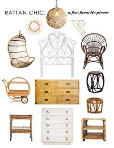 get the look: rattan chic