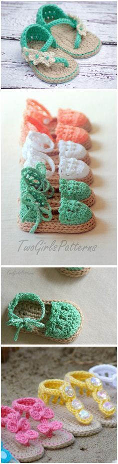 Crochet Baby Shoes Crochet Baby Flip Flop Sandals with Patterns –Crochet Child Booties Child Sandals Crochet Sample Extra Crochet Baby Booties Supply : Baby Sandals Crochet Pattern More.These little Crochet Baby Flip Flop Sandals are the perfect su Crochet Diy, Crochet For Kids, Crochet Crafts, Crochet Projects, Crochet Dolls, Crochet Ideas, Crochet Poncho, Crochet Granny, Crochet Baby Sandals