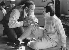 Still of Robin Williams and Bill Cosby in Jack (1996)