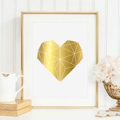 Herz in Goldfolie
