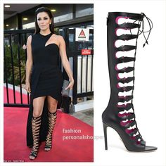 """?!!! #EvaLongoria in """"Cassandra"""" gladiator cut out boots from @oscartiye on tv show """"Le Grand Journal"""" in Cannes on Monday night!!!"""