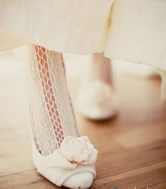 Wedding Style Idea - Textured Tights